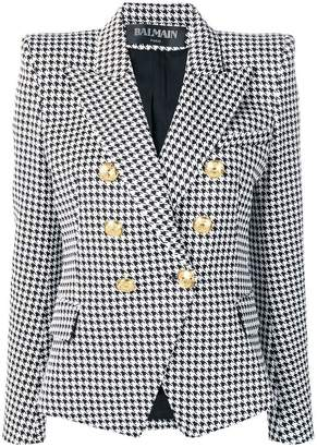 Balmain six-button houndstooth jacket