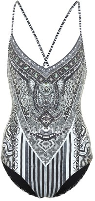 Camilla Embellished one-piece swimsuit