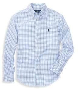 Ralph Lauren Boy's Checkered Cotton Button-Down Shirt