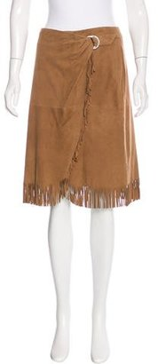 Lauren Ralph Lauren Suede Wrap Skirt $180 thestylecure.com