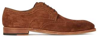 Magnanni Chestnut Suede Brogues