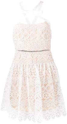 Self-Portrait floral lace mini dress