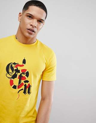 Good For Nothing t-shirt in with muscle fit with snake logo