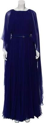 Elie Saab Pleated Evening Dress