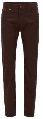 BOSS Hugo Italian Cotton Jean, Regular Fit Maine 36/34 Dark Brown