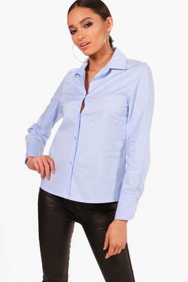 boohoo Mia Fitted Cotton Shirt