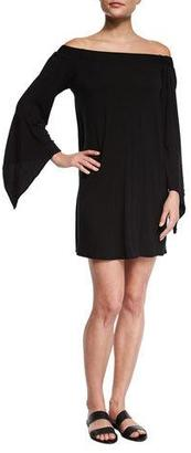 Luxe by Lisa Vogel Liquid by Luxe Bell-Sleeve Coverup Dress $94 thestylecure.com