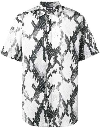 Just Cavalli snakeskin print short-sleeve shirt
