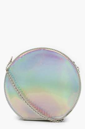 boohoo Holographic Structured Round Bag