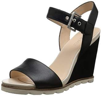 Nine West Women's Gronigen Leather Wedge Sandal