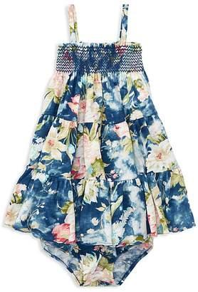 Ralph Lauren Girls' Floral Smocked Dress & Bloomers Set - Baby