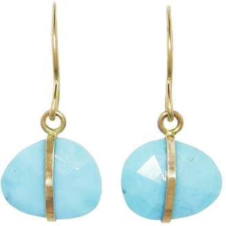 Melissa Joy Manning Turquoise Single Drop Earrings