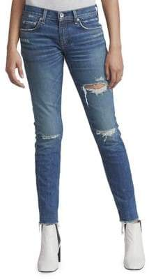 Rag & Bone Cropped Boyfriend-Fit Jeans