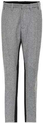 N°21 Houndstooth wool-blend pants