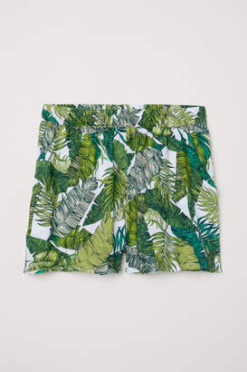 H&M Patterned Shorts - White