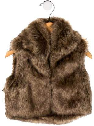 Ralph Lauren Girls' Faux Fur Vest
