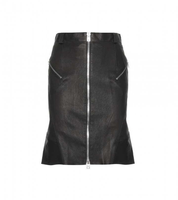 McQ by Alexander McQueen Leather skirt