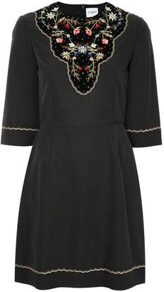Vilshenko embroidered floral dress