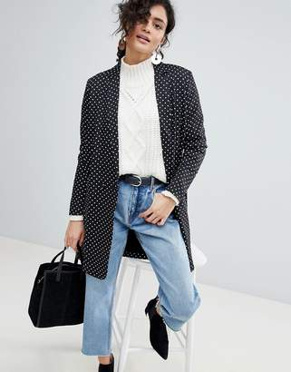 Selected Polka Dot Long Blazer