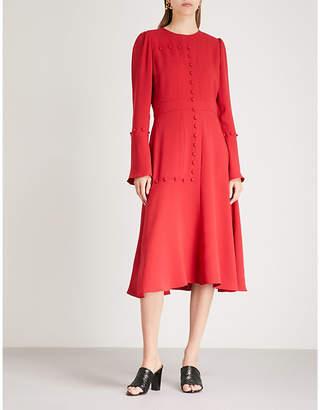 Prabal Gurung Button-detail crepe midi dress