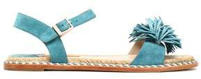 Paloma Barceló Braided Leather-Trimmed Fringed Sandals