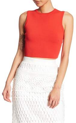 KENDALL + KYLIE Kendall & Kylie Bold Back Strap Knit Crop Top