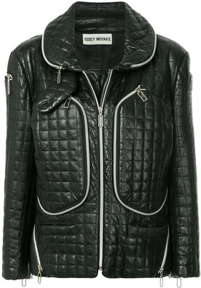 Issey Miyake Pre-Owned functional zipped jacket