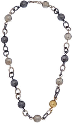 Gurhan Balloon 24K Over Silver & Silver Chain & Ball Necklace