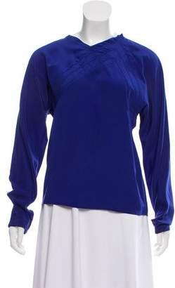 Gianni Versace Long Sleeve Silk Top