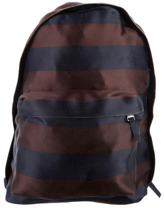 Raf SimonsRaf Simons Striped Satin Backpack