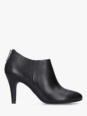 Kurt Geiger London Dahlee Zip Leather Boots, Black Leather