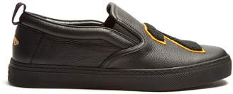 Gucci Hebron 25 leather slip-on trainers