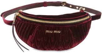 Miu Miu Quilted Velvet Belt Pack