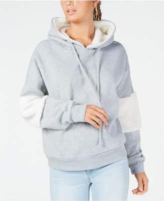 Self Esteem Juniors' Sherpa Stripe Hoodie