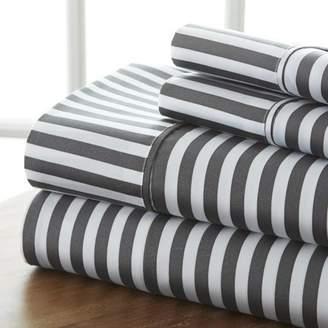 Noble Linens Ultra Soft 4 Piece Ribbon Bed Sheet Set