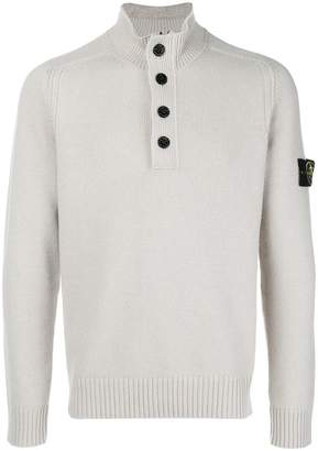 Stone Island turtle-neck fitted sweater