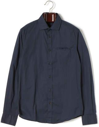 Gas Jeans (ガス) - GAS SASHA/S ドット柄 スプレッドカラー 長袖シャツ ブルーブラック s