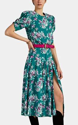 ATTICO RE/DONE + THE Women's Floral Belted Midi-Dress