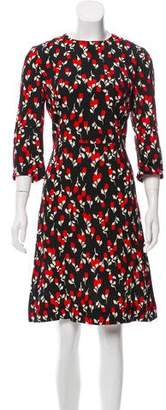 Marni Printed Short Sleeve Dress