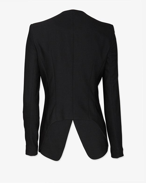 Helmut Lang Wool Suiting Blazer: Black