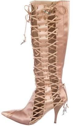 Giuseppe Zanotti Satin Knee-High Boots
