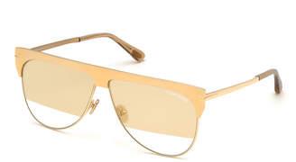 Tom Ford Winter Two-Tone Mirrored Aviator Sunglasses