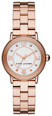 Marc Jacobs Marc Jacobs Rose Goldtone Stainless Steel Link Bracelet Watch, MJ3474
