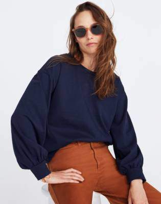 Madewell Chord Bubble-Sleeve Top