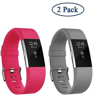 Fitbit Adepoy 2 Pack Original Style Replacement Sport Strap Wirst Bands for Charge2