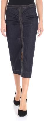 N°21 N.21 Denim Gathered Detail Skirt