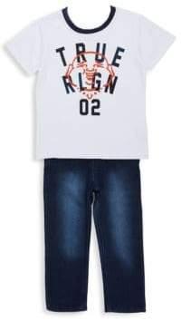 True Religion Little Boy's Buddha Tee & Jeans Two-Piece Set