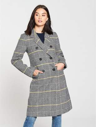 Warehouse Check Double Breasted Coat