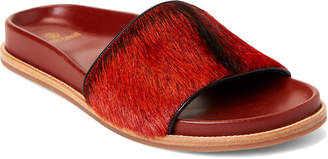 Roberto Cavalli Orange & Black Slide Sandals