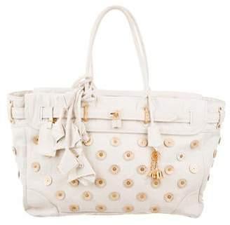 Louis Vuitton Polka Dot Panama Big Steamer Bag
